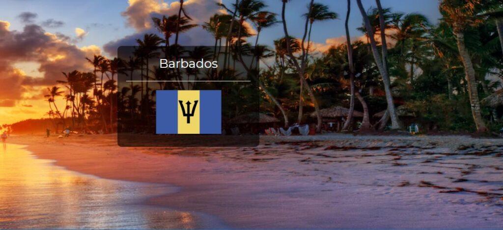 Barbados Country Flag