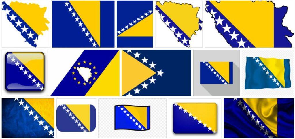 Bosnia and Herzegovina Country Flag