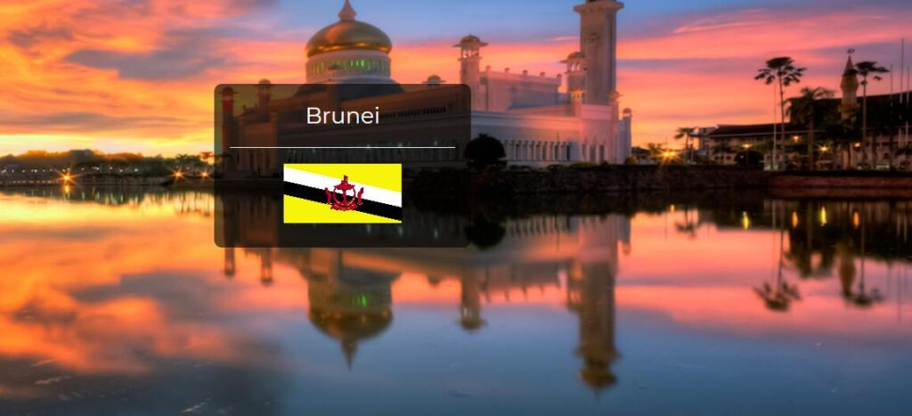 Brunei Country Flag