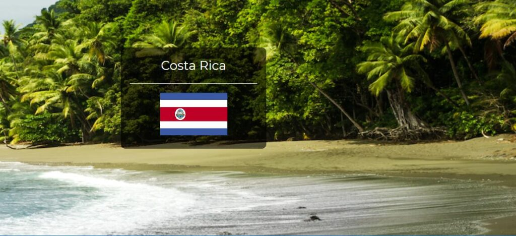 Costa Rica Country Flag