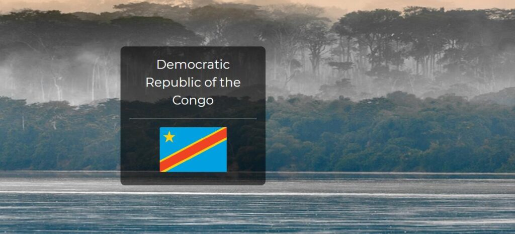 Democratic Republic of the Congo Country Flag