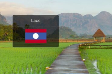 Laos Country Flag