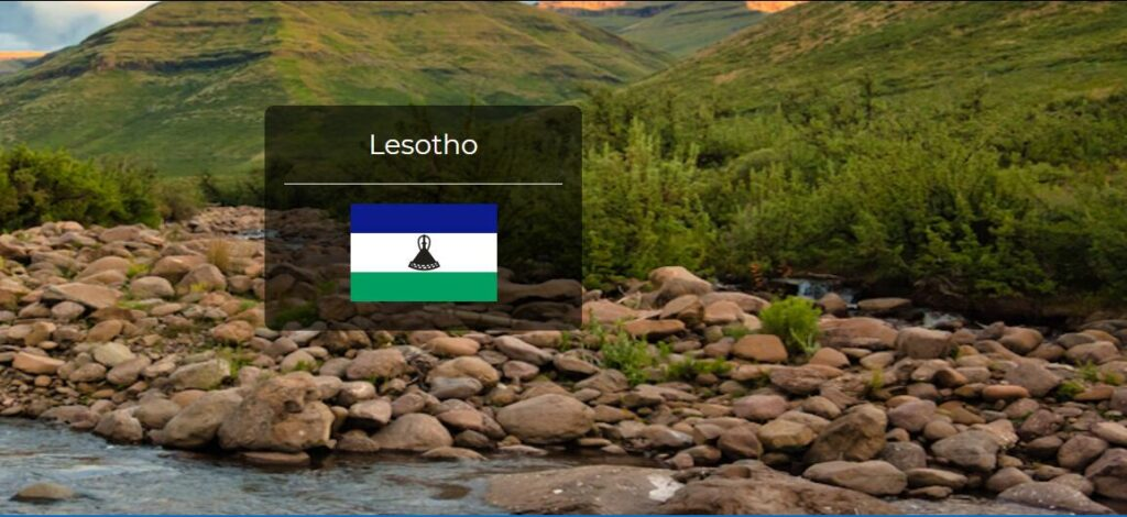 Lesotho Country Flag