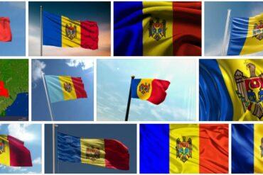 Moldova Country Flag