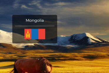 Mongolia Country Flag
