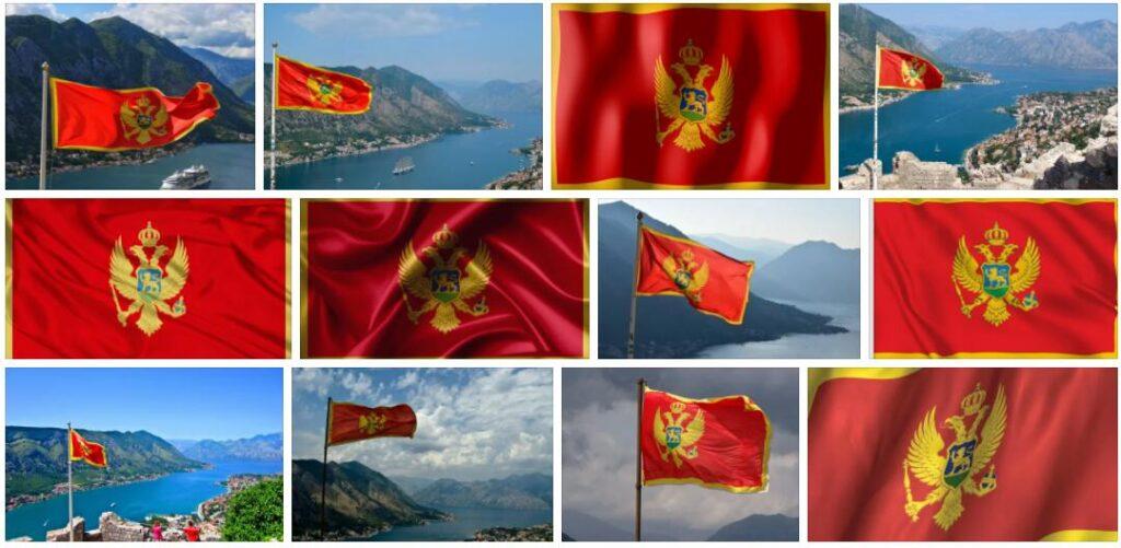 Montenegro Country Flag