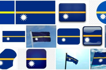 Nauru Country Flag