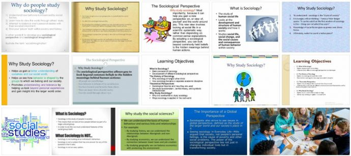 Study Sociology