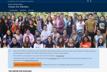Center for Scholars Home Page - Center for Scholars - CSUF